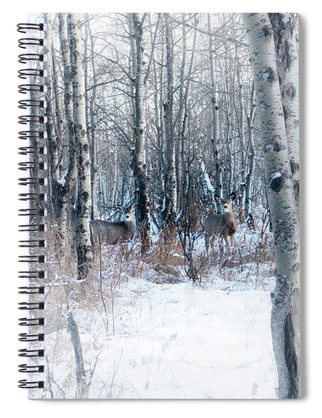 Deer In The Woods Spiral Notebook