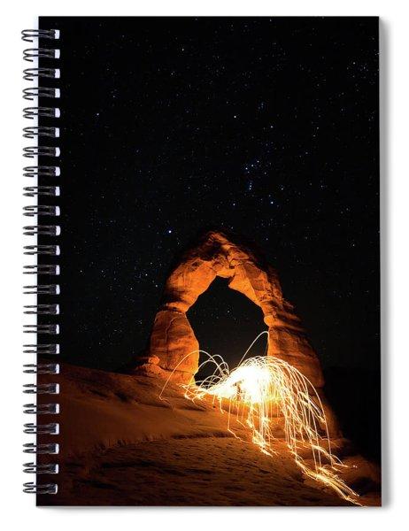 Delicate Arch Steel Wool Spiral Notebook
