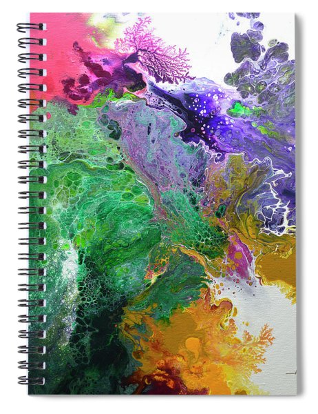 Delicate Canvas Three Spiral Notebook