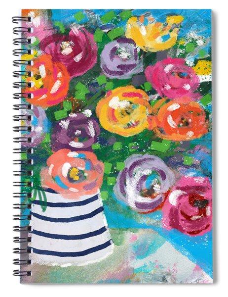 Delightful Bouquet 6- Art By Linda Woods Spiral Notebook