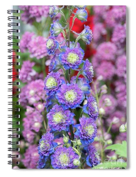 Spiral Notebook featuring the photograph Delphinium Highlander Sweet Sensation by Tim Gainey