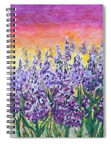 Delphiniums Spiral Notebook