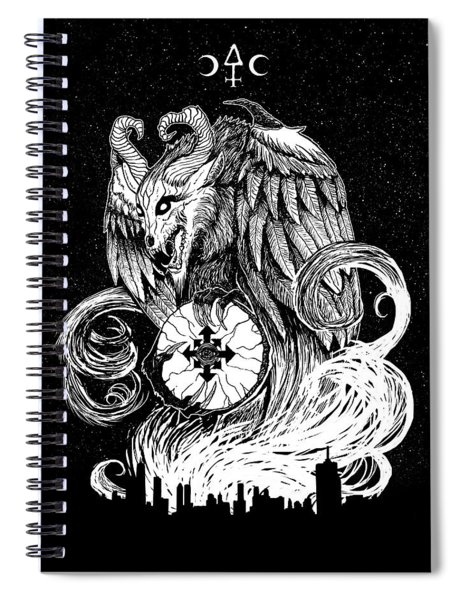 Demon Of Chaos Spiral Notebook