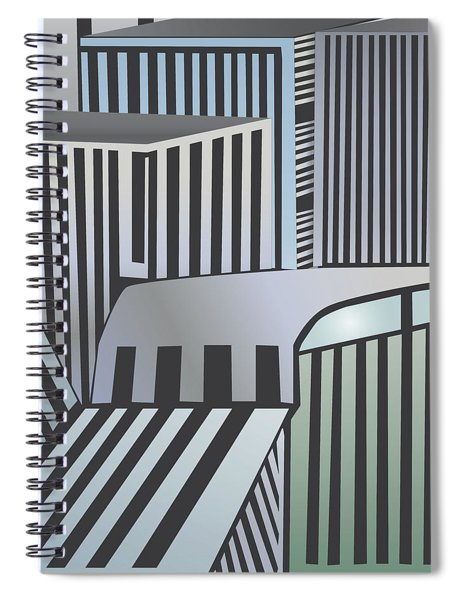 Den City Spiral Notebook