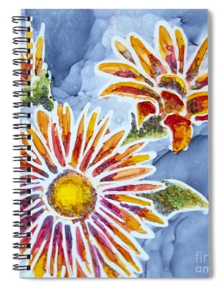 Denim Asters Spiral Notebook