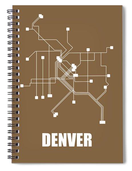 Denver Subway Map 2 Spiral Notebook