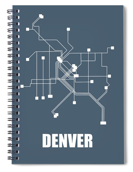 Denver Subway Map Spiral Notebook
