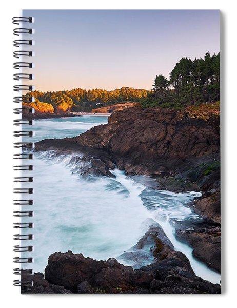 Depoe Bay Sunrise Spiral Notebook