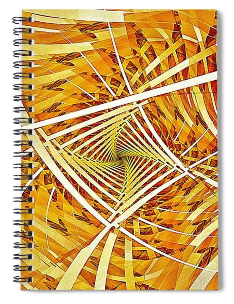 Descent Into Yello Spiral Notebook