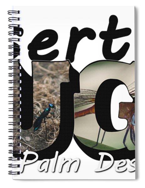 Desert Bugs Big Letter Spiral Notebook