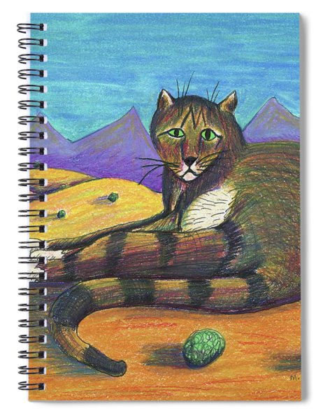Desert Cat Spiral Notebook