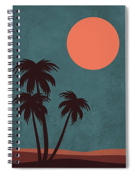 Desert Palm Trees Spiral Notebook