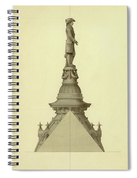 Design For City Hall Tower Spiral Notebook