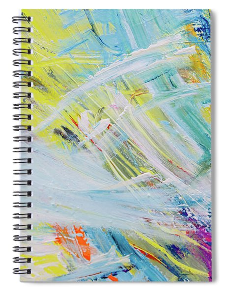 Detail Of Brush Strokes Of Random Colors To Use As Background An Spiral Notebook