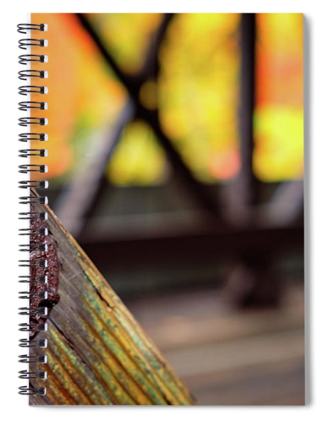 Details On A Covered Bridge Spiral Notebook