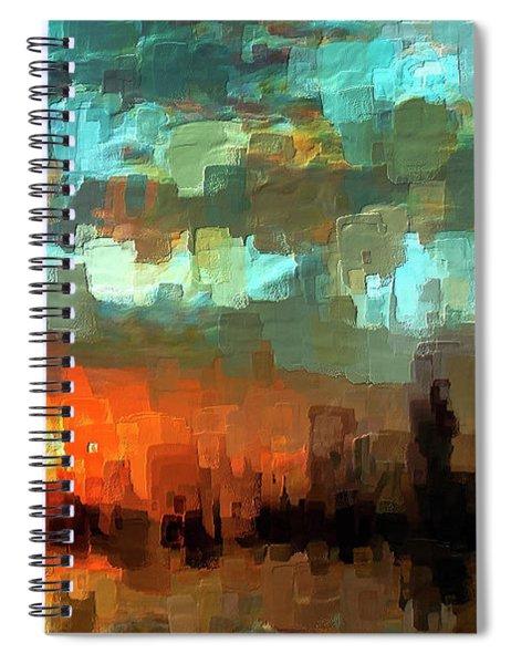 Detroit Days End Spiral Notebook
