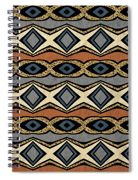 Diamond And Eye Motif With Leopard Accent Spiral Notebook