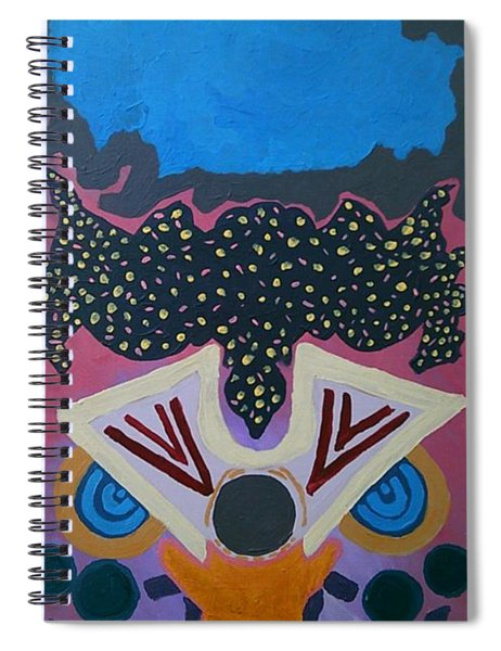 Spiral Notebook featuring the painting Did You Receive The Message by Samantha Galactica
