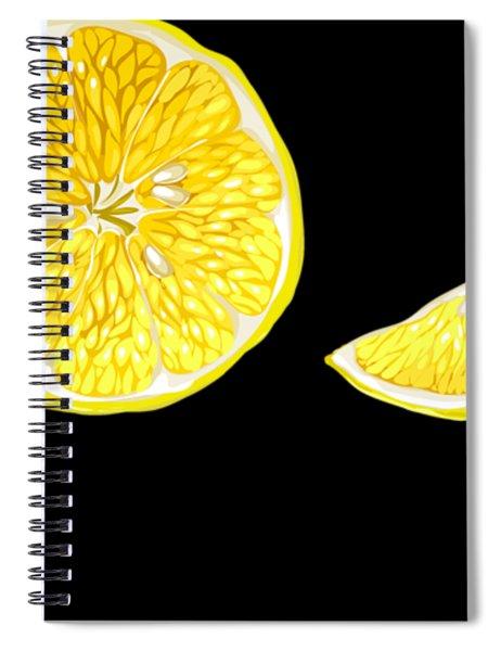 Digital Citrus Spiral Notebook