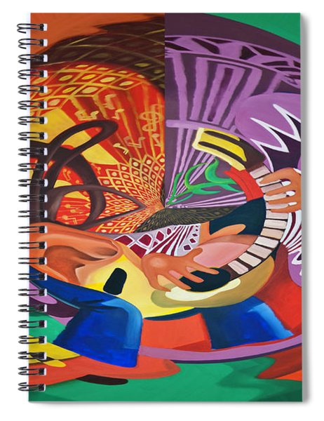 Digital I Guitar Spiral Notebook