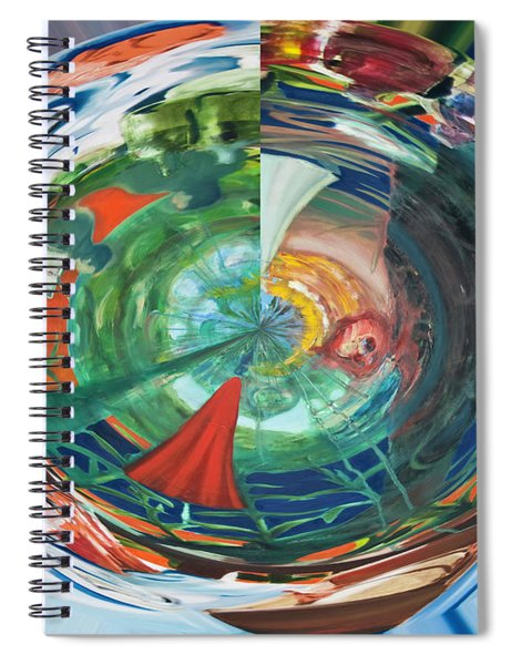 Digital Memories Of Skopelos Spiral Notebook
