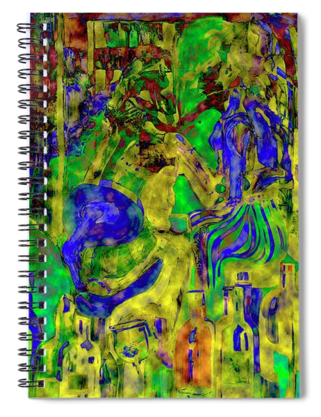 Digital Mind That Hot Tea Spiral Notebook