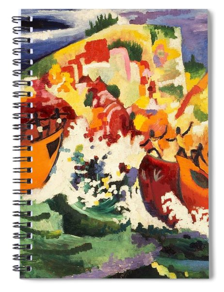 Digital Remastered Edition - Sea Battle Of Indigenous People Spiral Notebook