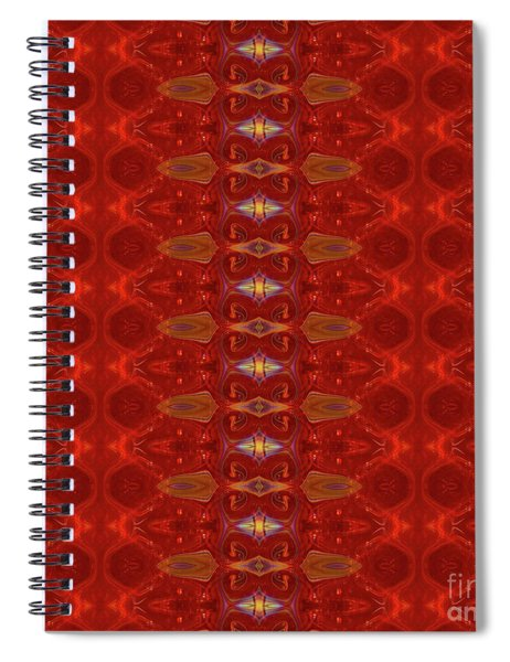 Patterns Colorful - Ruby Red Modern Pattern - By Omaste Witkowski Spiral Notebook