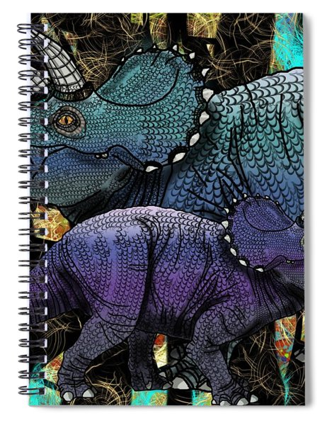 Dinosaur Triceratops And Calf Spiral Notebook