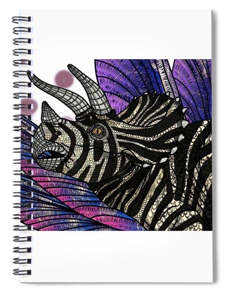 Dinosaur Triceratops Head Spiral Notebook