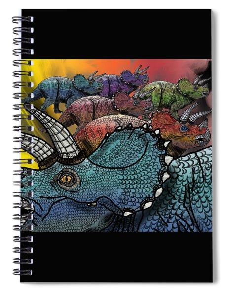Dinosaur Triceratops Herd Spiral Notebook