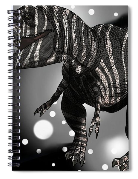 Dinosaur Zebra Tyrannosaurus Spiral Notebook