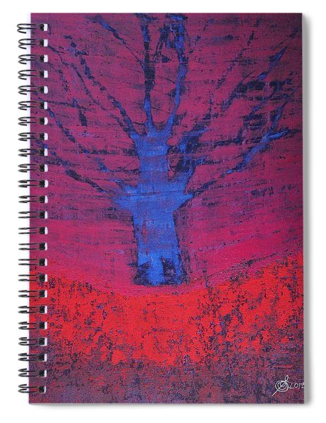 Disappearing Tree Original Painting Spiral Notebook