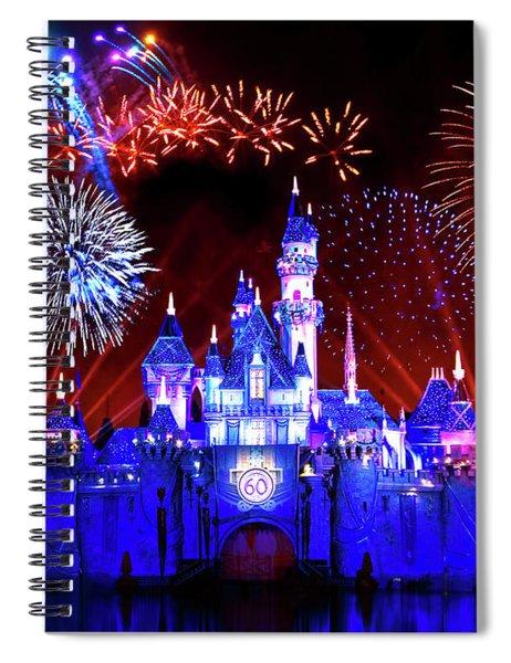 Disneyland 60th Anniversary Fireworks Spiral Notebook