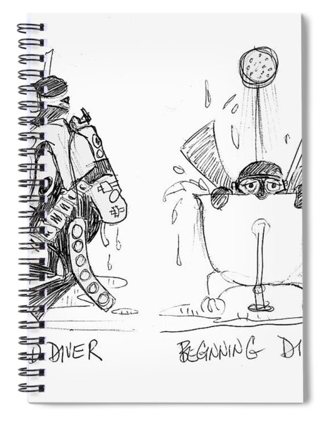 Divers - Old And New Spiral Notebook