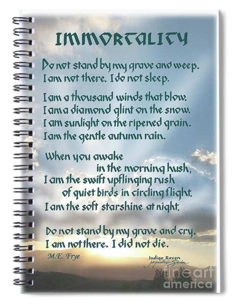 Do Not Stand At My Grave And Weep Spiral Notebook