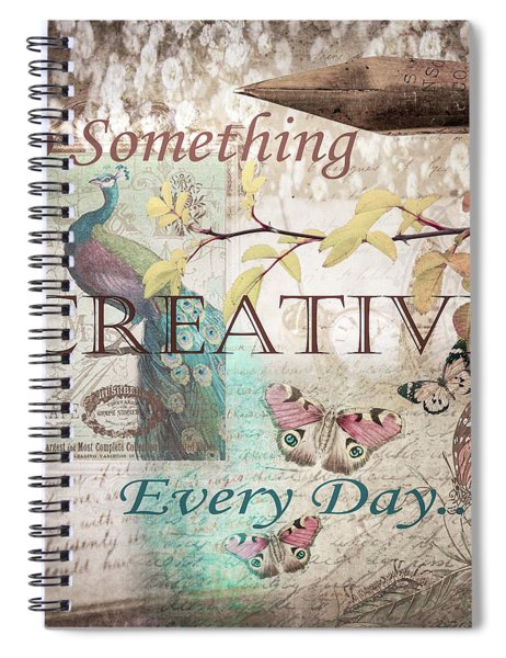 Do Something Creative Every Day Vintage Art Spiral Notebook