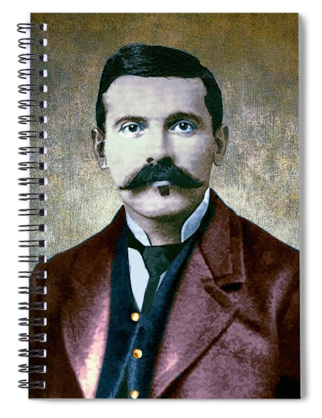 Doc Holliday Painterly Spiral Notebook