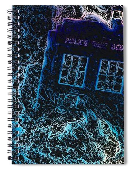 Doctor Who Tardis 3 Spiral Notebook