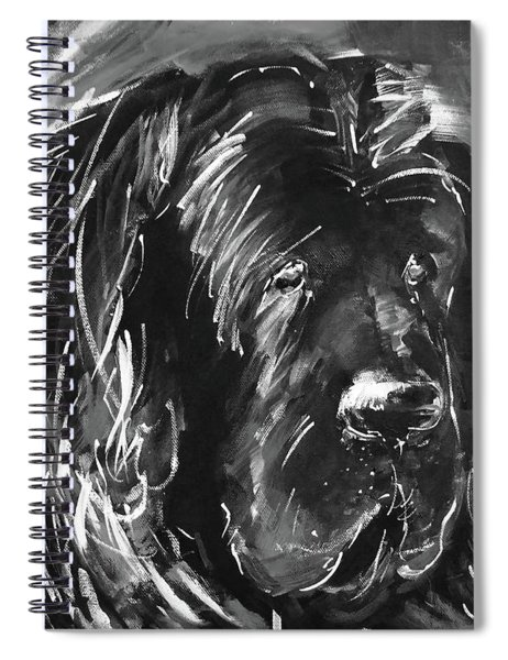 Dog Black And White  Spiral Notebook