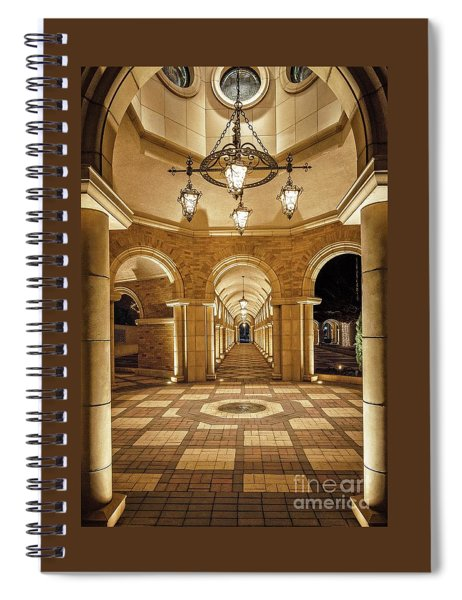 Domed Juncture  Spiral Notebook