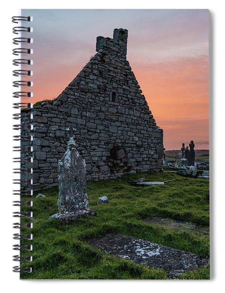 Doolin Ireland Graveyard At Sunrise Spiral Notebook