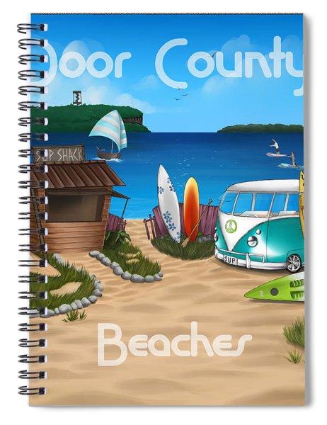 Door County Beaches Spiral Notebook