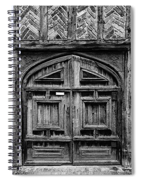 Door To A Black And White Past Spiral Notebook