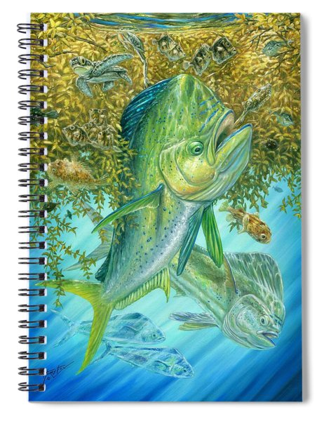 Dorados Hunting In Sargassum Spiral Notebook