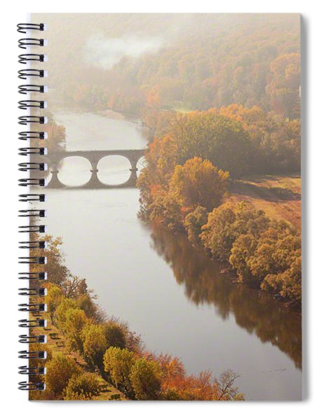 Dordogne River In The Mist Spiral Notebook