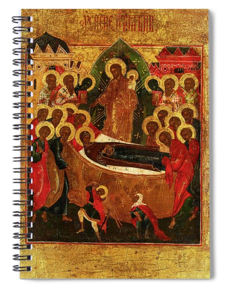 Dormition And The Elevation Of The True Cross, Russia, 19th Century Spiral Notebook