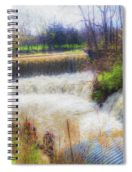 Double Falls Spiral Notebook
