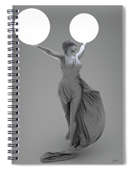Double Lamp Spiral Notebook