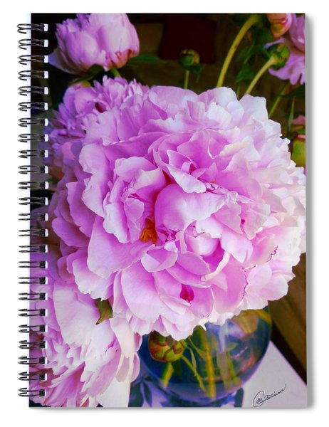 Double Peonies Spiral Notebook